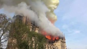 Feligreses locales reaccionan a fuego en Notre Dame