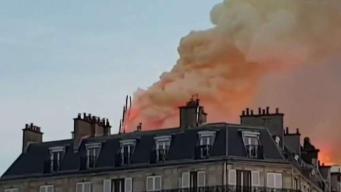Fuego calcina catedral de Notre Dame
