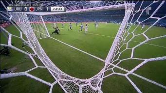 Golazo de Japón en contragolpe mortal contra Uruguay