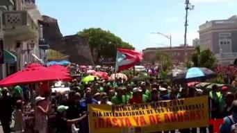 Manifestantes marcharon desde el Capitolio hasta Fortaleza