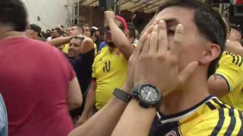Agonizante partido entre Inglaterra y Colombia