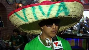 Hinchas orgullosos de la selección mexicana