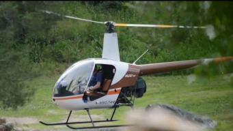 Hombre acusado de conducir helicoptero en su casa