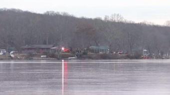 Hombre muere al caer en lago congelado