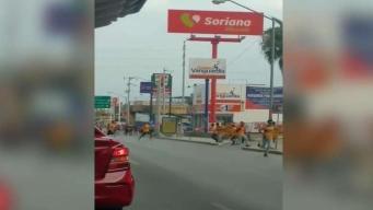 Captan en video riña entre fanáticos de Tigres y Rayados