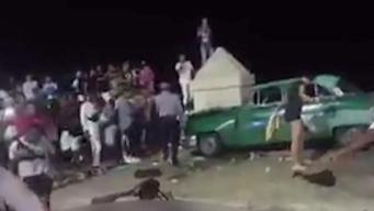 Muertos y heridos en choque en el malecón habanero