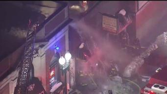 Incendio en negocio de ropa en Roxbury