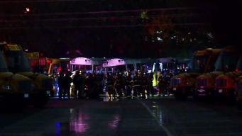 Investigan múltiples autobuses en llamas en Providence