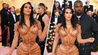 "Kim Kardashian llega ""mojada"" y apretadísima a la Met Gala"