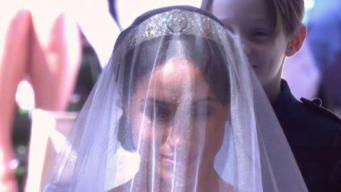 La impresionante entrada de Meghan Markle hasta el altar