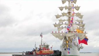 Gran buque colombiano llega a puerto de Boston