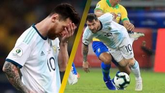 0 de 9: la maldición de Messi con Argentina continúa