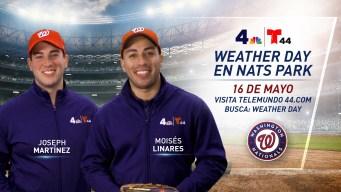 T44 y NBC4 presentan el Weather Day en Nats Park