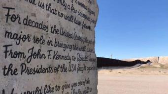 Mandan mensaje a Trump en fragmento del muro de Berlín