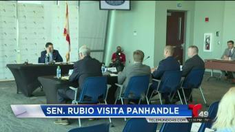 Marco Rubio habla con comerciantes en Panhandle