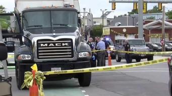 Mujer impactada por camión en Somerville