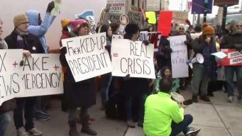 NY protesta por declaración de emergencia de Trump
