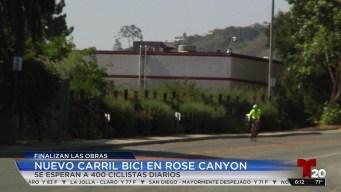 Nuevo carril para ciclistas en Rose Canyon