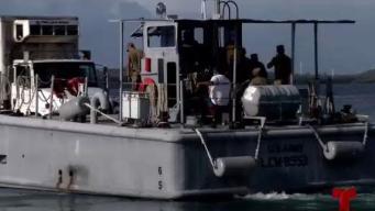 Guardia Nacional tuvo que hacer malabares en muelle provisional de Culebra