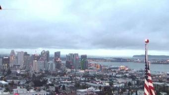 Panorama gris en la ciudad de San Diego