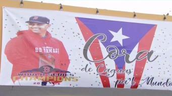 Ruta de Medias Rojas en celebración en Puerto Rico