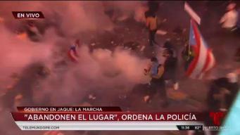 Protesta termina en caos tras provocación de manifestantes