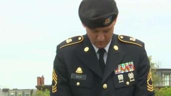 Recuerdan a soldados caídos en ceremonia de banderas
