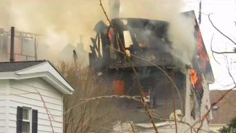 Se incendia casa afectada en explosiones de septiembre