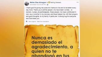 Sobreviviente de accidente aéreo en Cuba envía agradecimiento
