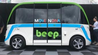 Presentan transporte público autónomo en Lake Nona