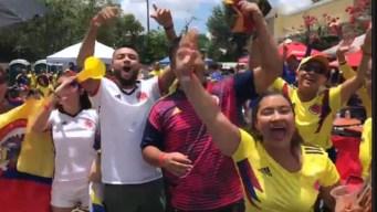 Celebración del partido de Colombia en Orlando