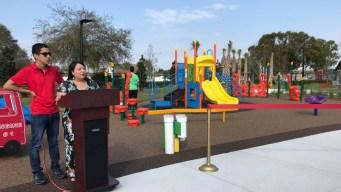 Inauguran parque público para niños especiales