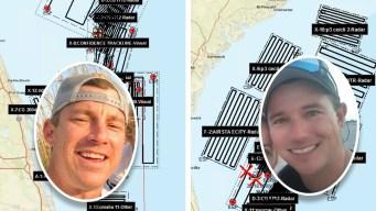 Búsqueda masiva de 2 bomberos pescadores desaparecidos
