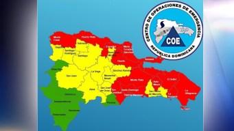 Aumentan las provincias en alerta roja en Dominicana