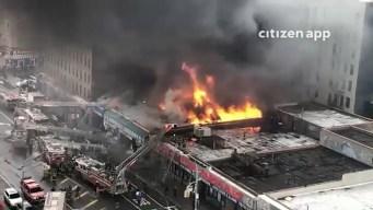 Poderoso incendio ruge en lavandería de El Bronx