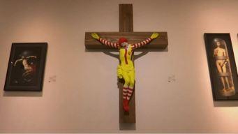 Museo decidió qué hacer con McJesus, el payaso crucificado