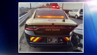 Conductor hispano se estrella contra patrulla en I-4