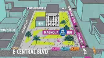 "Innovadora iniciativa: llegan ""Ridesharing hubs"" a Downtown"