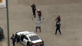 Detenido tras persecución policial de película en Texas