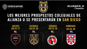 Los mejores prospectos hispanos colegiales de Alianza U se presentarán en San Diego