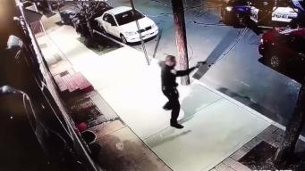 Tiroteo con policía queda captado en cámara