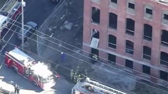 Trabajadores heridos tras desplomarse  edificio