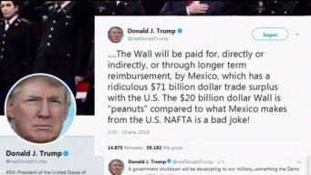 """Trump: """"El muro será financiado por México"""""""