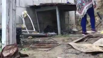 Viviendas afectadas por la fuerte lluvia en Tijuana