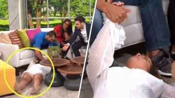 """Video: Adamari """"se desmaya"""" en pleno programa"""