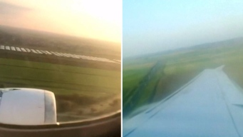 Aterrador: pasajero graba aterrizaje que dejó heridos