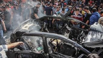 Ataques entre Israel y Palestina dejan baño de sangre