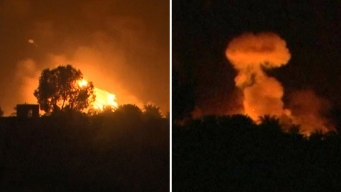En video: bombazos nocturnos sorprenden a ISIS
