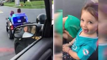 """Video: policía detiene a niños y ellos """"se dan a la fuga"""""""