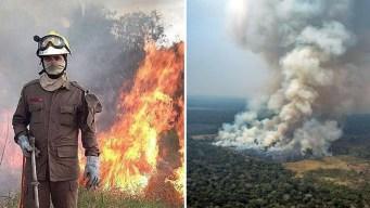 Redoblan esfuerzo para frenar el fuego en la Amazonía